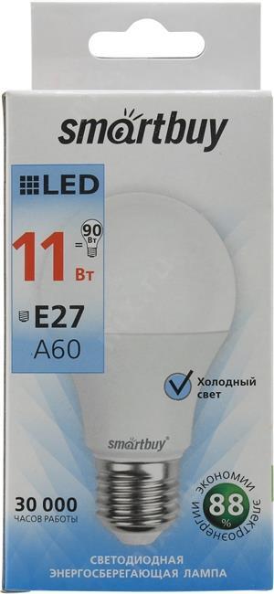"""Лампа Smart Buy Светодиодная A60 11w 4000/E27 """"ГРУША"""" Дневной свет"""