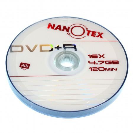 Диск NANOTEX DVD+R brand bulk 50 шт в пленке