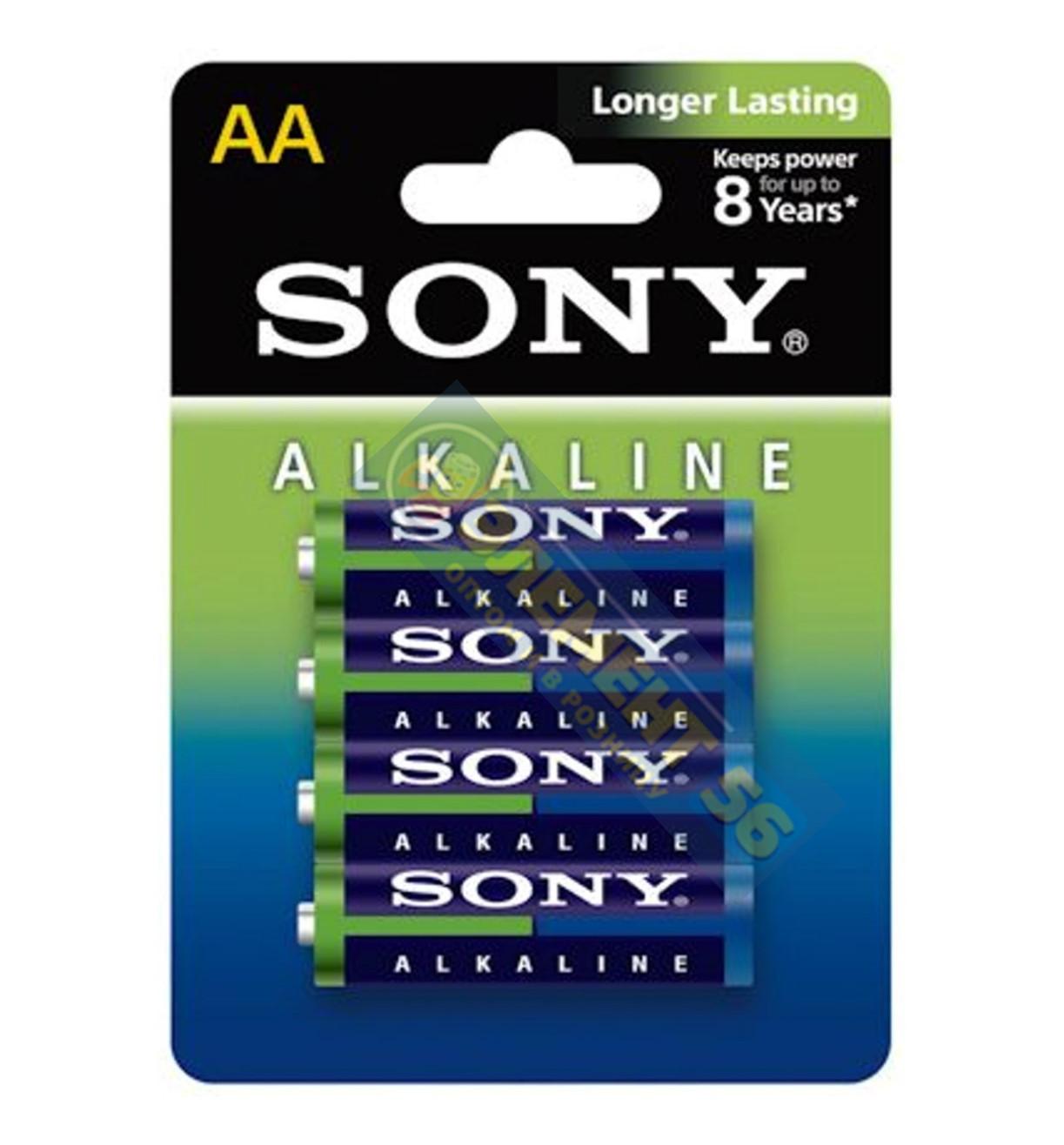 SONY ALKALINE LONGER LASTING LR6, AA, MN1500, А316 4BL (4) (48) (192)