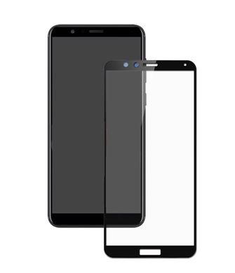 Защитное стекло  5D для HUAWEI Honor 7X, черн.техпак