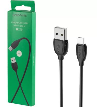 Кабель BOROFONE BX19  USB -TYPE-C 1,0м 2.4 A черный