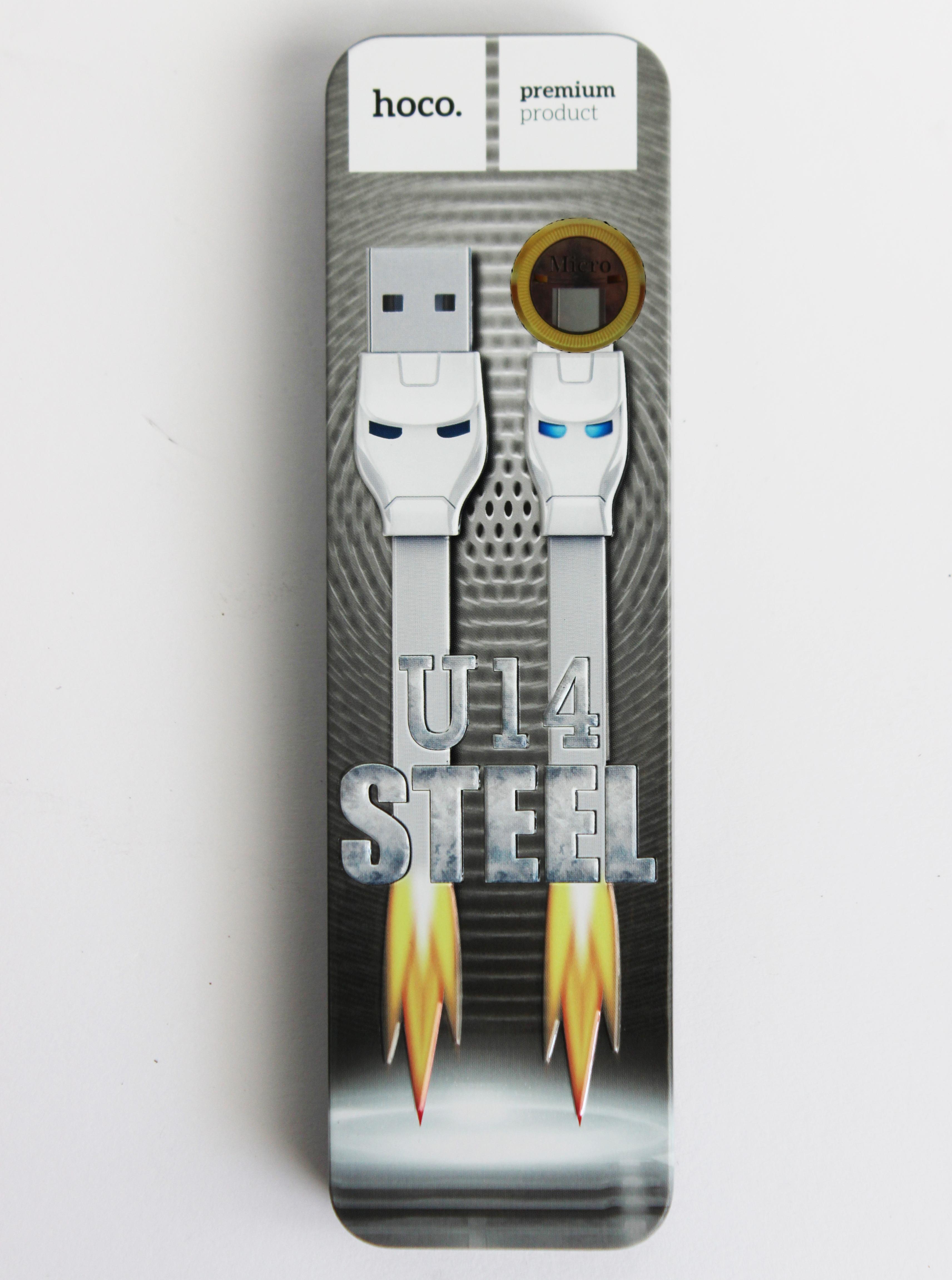 Кабель Hoco U14 Micro металл