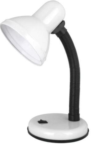 Лампа настольная на основании Ultraflash UF301P C01 60W E27 белый