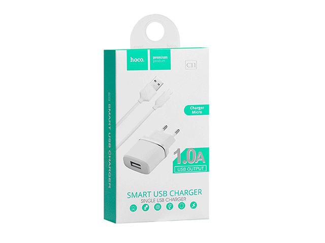 СЗУ 1 USB Hoco C11 (Apple 8-pin)