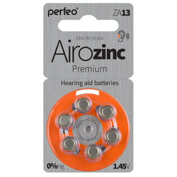 PERFEO ZA13 6BL 1.45V для слуховых аппаратов