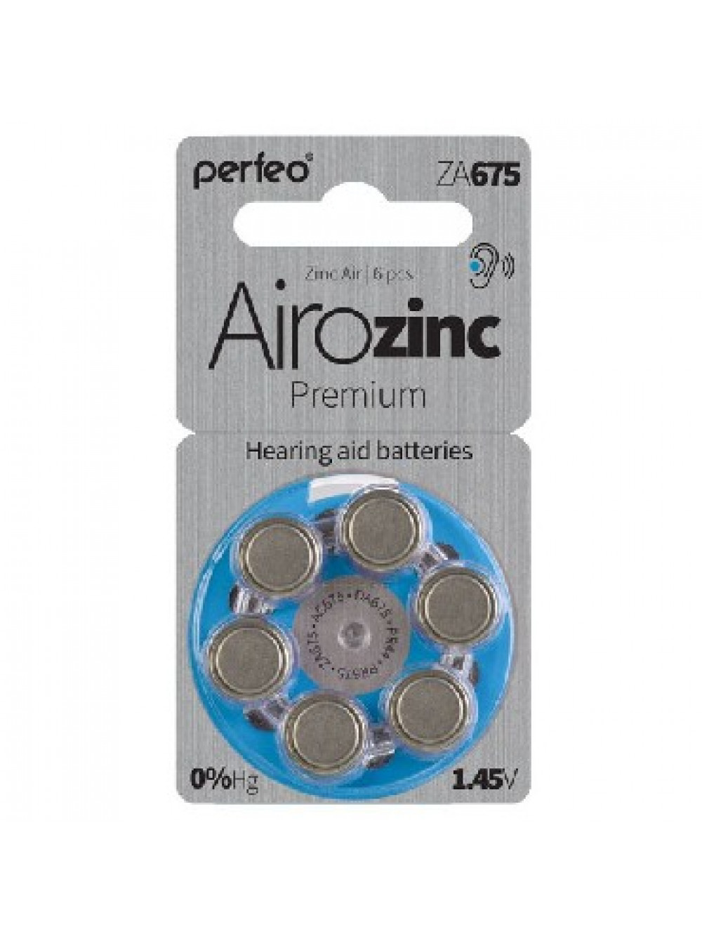 PERFEO ZA675 6BL 1.45V для слуховых аппаратов