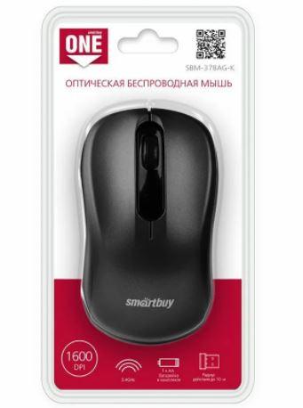 Мышь беспроводная SMART BUY 378AG-K черная USB 2.0