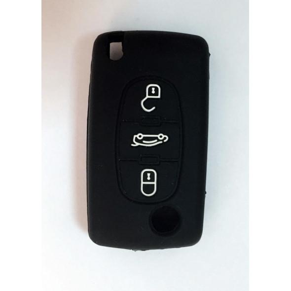 Чехол силиконовый для ключа зажигания PEUGEOT 3 buttons 408