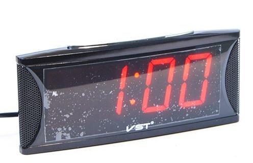 Часы настольные VST-719/1 (красный)