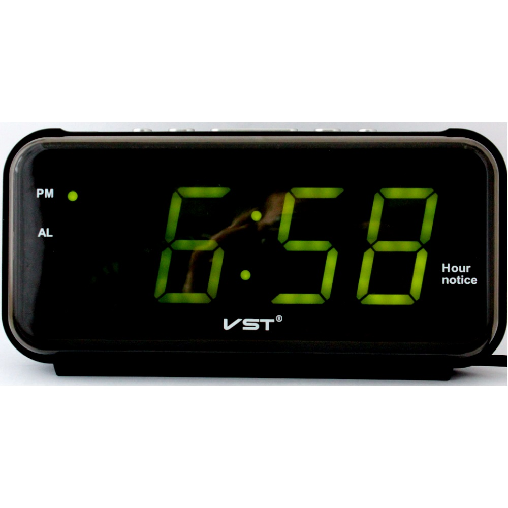 Часы настольные VST-806/4 (ярко-зеленый)