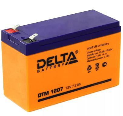 Аккумулятор DELTA DT 1207 12V 7.0Ah свинцово-кисллот.