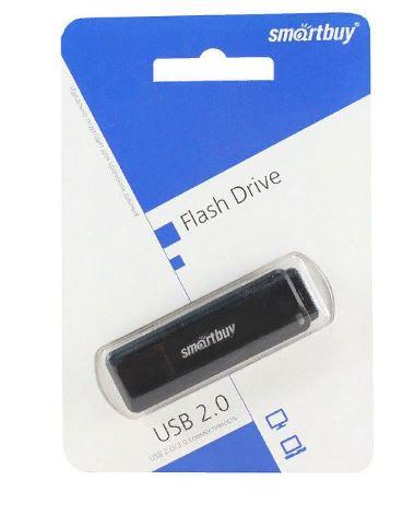 Флеш-карта SMART BUY 64GB LM05  черная с колпачком USB 2.0