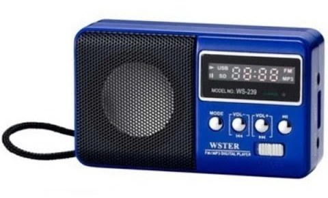 Радиоприемник FM/USB/TF WSTER WS-239 синий