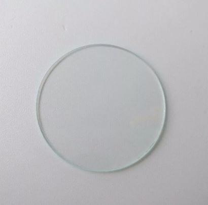 Стекло для часов круглое плоское минеральное 36,9*1,2
