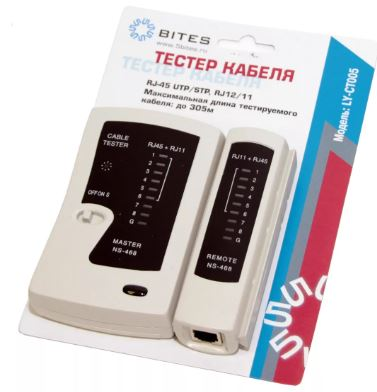 ТЕСТЕР кабеля 5bites (LY-CT005)  для UTP/STP RJ45/RJ11/RJ12