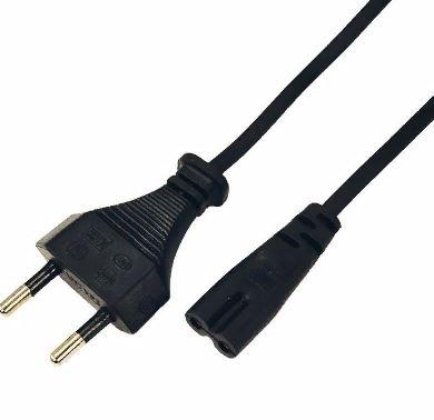 Шнур питания REXANT C7  магнитофонный 1,8м PE черный 2х0,5