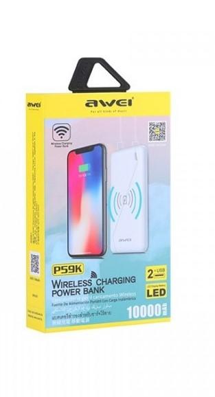 Зарядка портативная Power Bank AVEI P59K Wireless Changer 10000 mAh