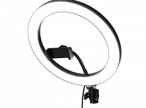 Селфи-лампа кольцевая 26см QX-260 (USB, 3 режима света, регулятор яркости. держатель, ДУ)