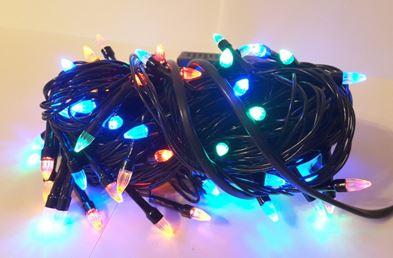 Гирлянда черная 100 светодиодов LED-8000