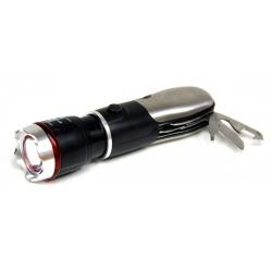 Фонарик металлический+аварийный молоток+набор отверток+ZOOM MX-159