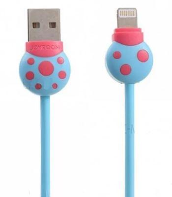 Дата-кабель JOYROOM USB для microUSB  S-L124 1.0м голубой