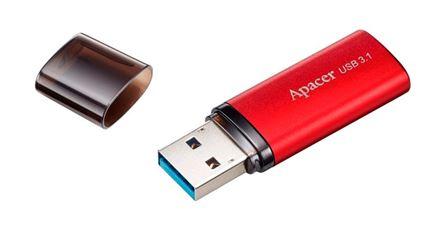 Флеш-карта APACER 32GB AH25B USB 3.0 красная с колпачком AP32GAH25BR-1