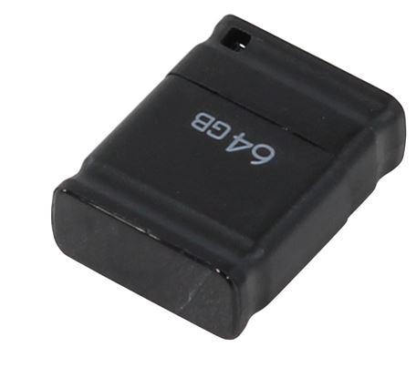 Флеш-карта QUMO 64GB NANO BLACK суперминиатюрная USB 2.0 QM64GUD-NANO-B