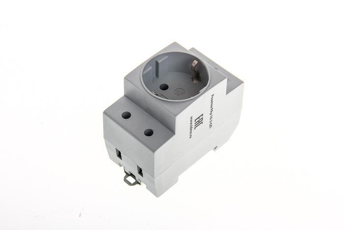 Розетка PAp 10-3-ОПс Shuko с зазаемляющим контактом TDM