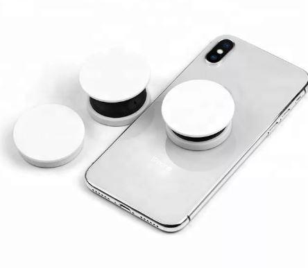 Попсокет 02 для смартфона складной с креплением белый