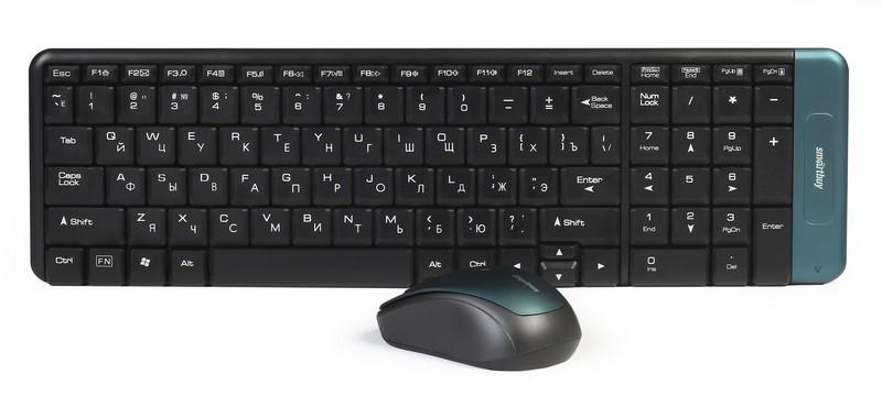 Мышь+клавиатура SMART BUY КОМПЛЕКТ 222358AG-K беспроводные
