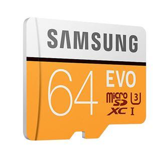 Карта памяти SAMSUNG EVO 64GB SDXC UHS-I U3 CLASS 10 Plus adapter MB-MC64GA/RU