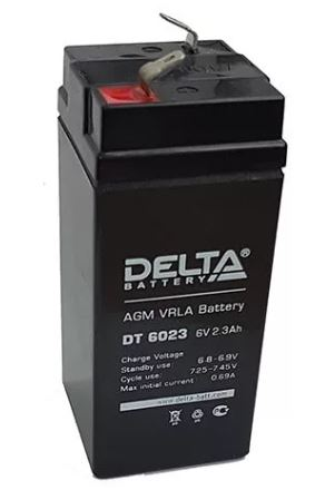 Аккумулятор DELTA DT 6023 6V 2.3Ah свинцово-кисллот.