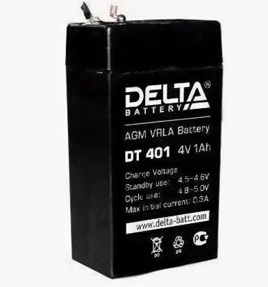 Аккумулятор DELTA DT401 4V 1.0Ah для фонарей ТРОФИ