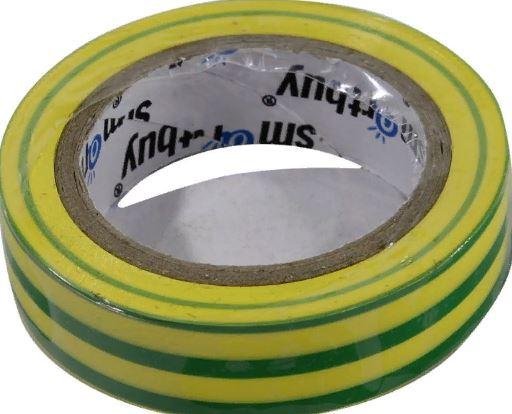 Изолента 0,13*15 мм 10м желто-зеленый ПВХ SMART BUY