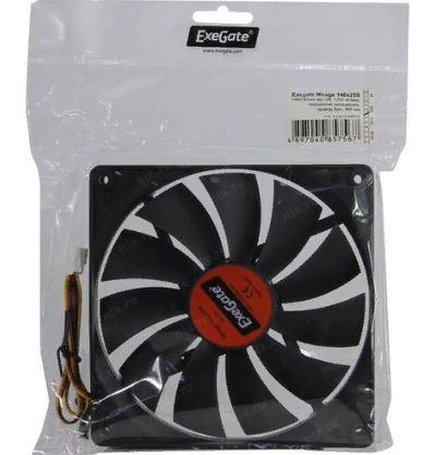 Вентилятор 140*140*25мм ExeGate  EX241638RUS 1200 RPM 25dB 3pin подшипник скольжения