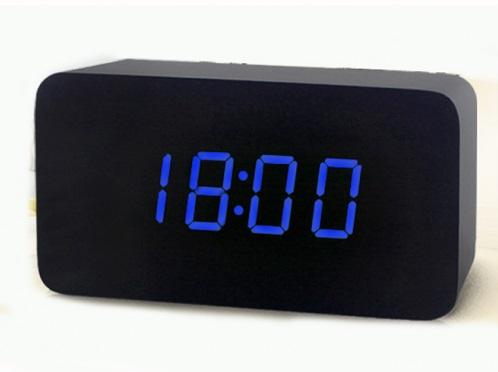 Часы (деревянные)+дата+температура VST-863/5 (ярко-синий)