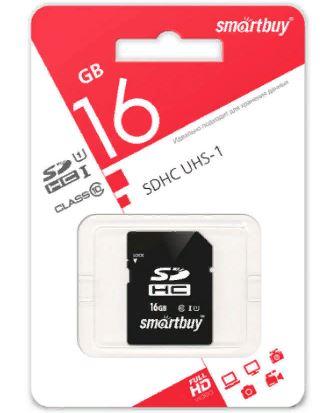 Карта памяти Smart Buy 16GB SECURE SDHC UHS-1  CLASS 10  SB16GBSDHCCL10