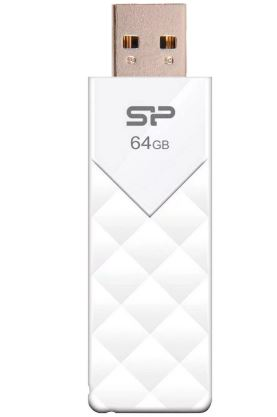 Флеш-карта SILICON POWER 64GB U03 белый SP064GBUF2U03V1W