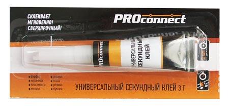 Клей секундный PROCONNECT 3г, на листе 12шт/288