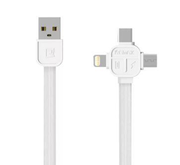 Дата-Кабель Remax LESU USB-micro USB  + TYPE-C + Lightning (RC-066th)