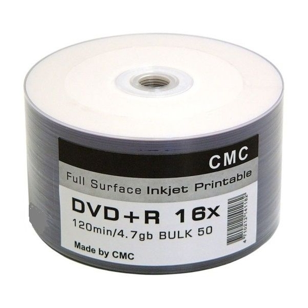 Диск CMC CD-R 80 52X FULL INKJET PRINT 50шт в пленке