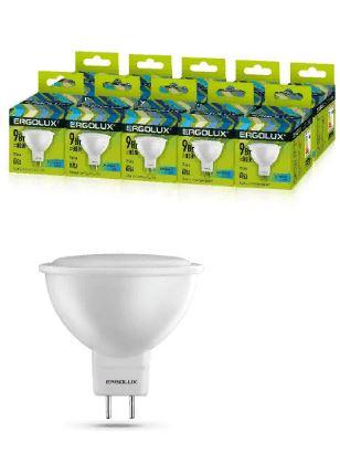 Лампа ERGOLUX Светодиодная GU5.3 9W 4500 220V матовая холод,