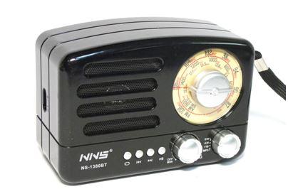 Радиоприемник Ретро NNS NS-1380BT+Bluetooth+USB+SD +аккумулятор