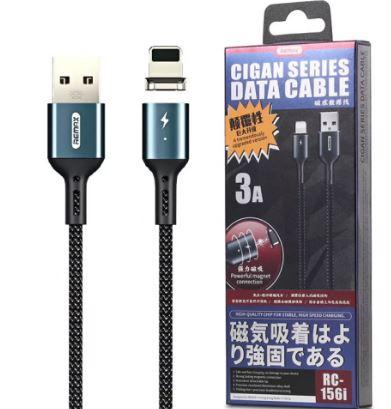 Кабель REMAX RC-156i магнит. Apple 8-pin  USB 3.0A 1,0м