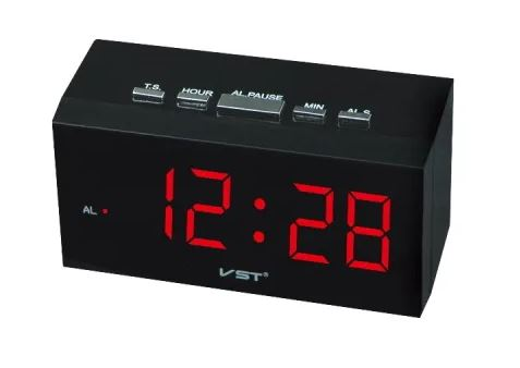 Часы настольные VST-772/1 красный