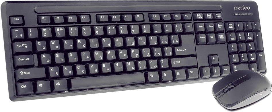 Мышь+клавиатура PERFEO комплект PF-215 WL/OP беспроводные