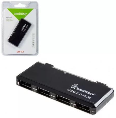 ХАБ USB SMART BUY 4 порта черный USB 2.0(SBHA-6110-B)
