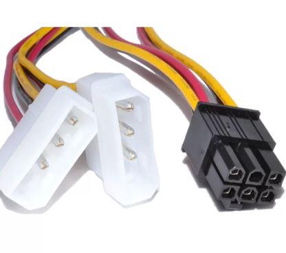 Переходник MOLEX 2 - ATX 6 pin (доп.питание видеокарт и  мощных CPU)