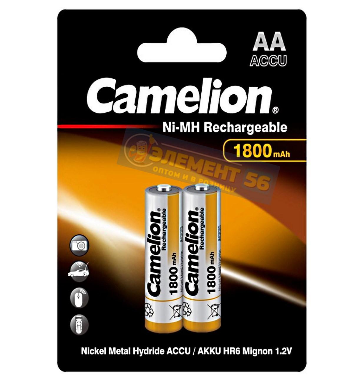Аккумулятор CAMELION AA, HR6 (1800 mAh) MN1500, А316 2BL (2) (24) (384)
