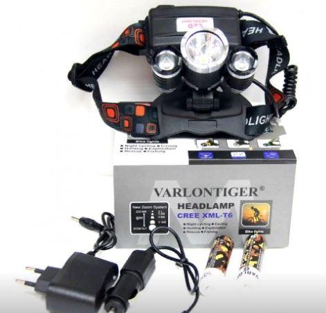 Фонарь налобный MX-A5-T6 +аккумулятор+СЗУ+АЗУ+ZOOM+4 режима